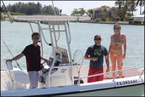 Daniel, Dan & Nina from SRQ enjoying a day on the water