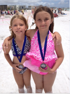 Best Friends Brianna Popp (8) and Kaitlyn Bennett (9) of Sarasota