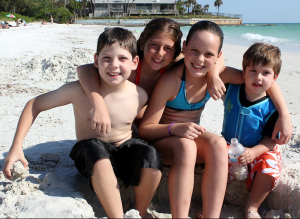 Eric(8), Sophie (10) from Venezuela, Debrah (11) from Miami, and Jonathan (2) from Venezuela