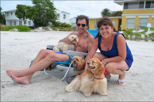 Alex and Madeline from Valrico, FL with pups OV, Freckles and Annabelle