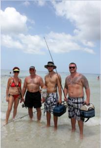 Beth, Bob Sr, Chris, and Bob from Tampa