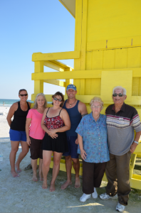 Andrea, Isabella, Jill, Jeff, Kay and Frank from Sarasota.