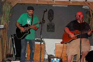 Brian and Doug from the Rum Junkies playing at Caasey Key Fish House