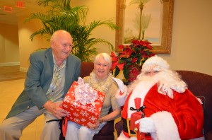 Ray, Norma and Santa at Bay Village