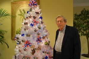 Ken by the Veterans Christmas tree