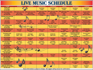 Click to enlarge music schedule