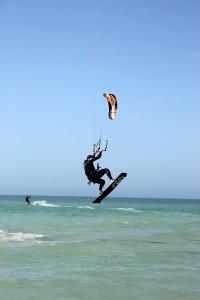 Robert from Sarasota kite surfing
