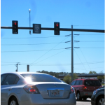 An electronic sign like the one shown here at I-75/Fruitville Road interchange will soon replace the current static sign at Midnight Pass and Stickney Point intersection. The new sign will again allow turns on red in certain circumstances based on real-time monitoring of data received from crosswalk devices at each corner.