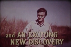 "Photo clip of then young Christopher Plummer billed as ""an EXCITING NEW DISCOVERY"" in the 1958 film ""Wind of the Everglades"""