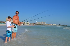 Ryan age 10 with his dad Michael – fishing on SK (from Sarasota)