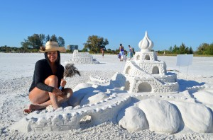 Angela from Sarasota working on her sandcastle at SK beach!