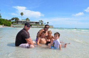 Brian, Leanie, Jake (8), Ehan (5), and Isaac (2) from Sarasota