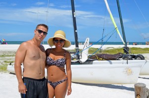 Ricardo & Jessica from Miami having a little fun in the sun on SK!