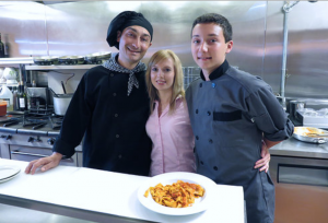 Chef Giuseppe, his wife, Ewa and son, Antonio following in his father's culinary footsteps