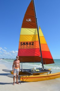 Greg enjoying his sailboat from SRQ