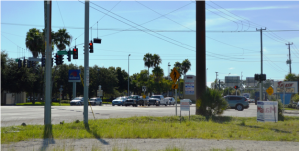 Sura Kochman, and many of her neighbors, say that traffic at the very busy intersection of Stickney Point Road and U.S. 41 will be much heavier if Benderson Development does not lower the density of their planned property. Photo by Debbie Flessner