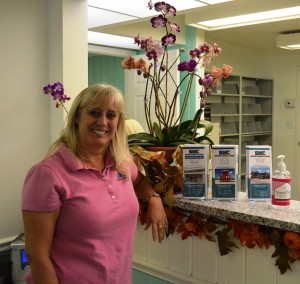Dana Pierce is the office manager for both locations of the Sarasota Medical Center. (Photo by Debbie Flessner)