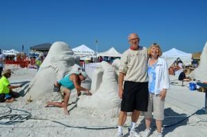 Terry & Darlene from Venice seasonably - snowbirds from MI