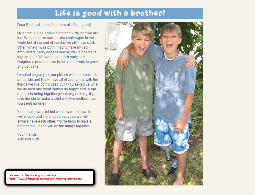 Life is good® with a brother