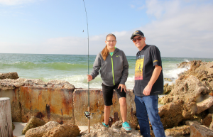 Annie age 14 and Blake from Venice taking in some quality fishing time together.