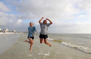 Siesta Key beach fun with Sydney, Shantel from GA.