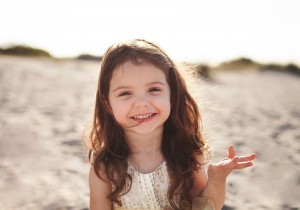 McKenzie age 3, from Port Charlotte enjoying some family time at the beach.