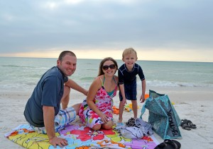 Morgan, Julie and Sawyer age 5, from Michigan – enjoying a day at the beach.