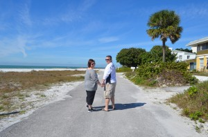 Becky & Keith from Baltimore.  First time to Siesta Key.  A friend highly recommended the area and they were excited to check it out!