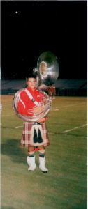 Peter played the Sousaphone in Riverview's Kiltie Band