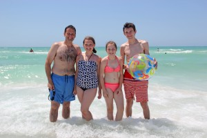 Darren, Anna age 11, Bethany age 13, Jack, from the UK
