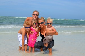 Zane age 6, Kara, Bridgette age 2, De (*SK Fitness) and Ace age 1 – from Sarasota. (*note: Look for the 20% off coupon from Siesta Key Fitness usually on the cover of the paper!)