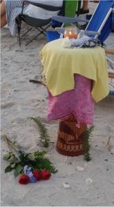 Recent memorial to Duane at  Siesta Key's  Drum Circle
