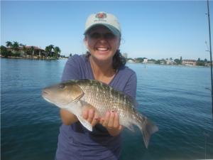 Mangrove snapper fishing is outstanding in July off of siesta Key