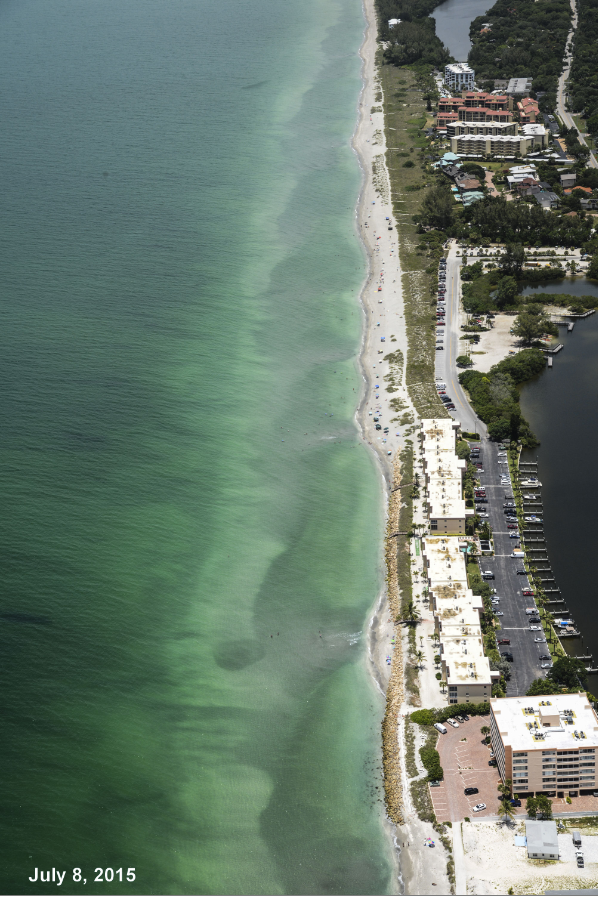 The South Siesta Key Beach Nourishment project area as seen on July 8th.