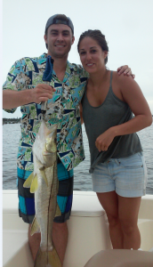 Awesome Snook catch Ernie McAlister and Lindsay Melvaer with TNT Freedom Fishing Charters