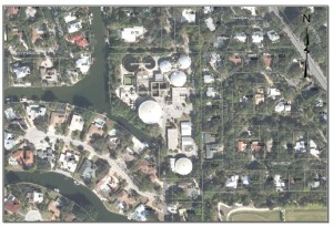 Aerial of Siesta Key Water Water Treatment Plant