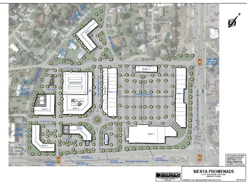 Benderson Development reveals modified plans for Siesta Promenade