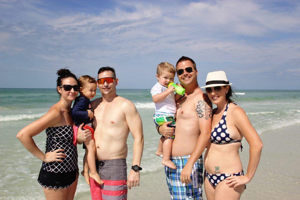 Felicia, Jeff, Kaleb age 2, John, Mason age 1, Sheila from Bradenton