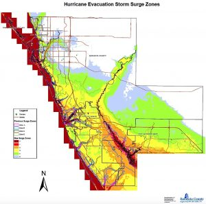 Sarasota County hurricane Evacuation zones from emergency Management