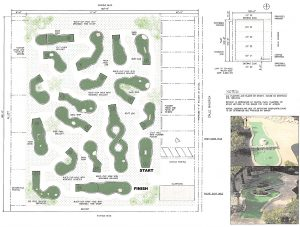 Mini golf course proposal for Calle Minorga