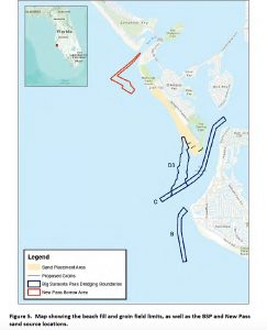 USACE borrow areas and project outline map in draft EA March 2015