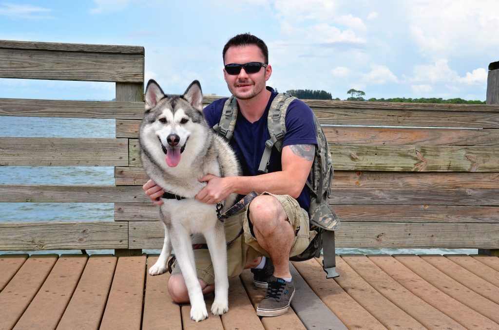 Michael and his dog, Waya from Lake Placid, Fl.