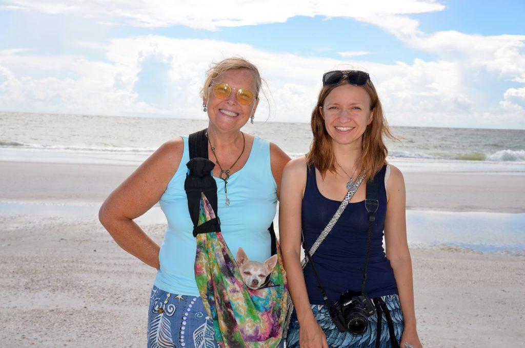 Sylvie from Sarasota, Anna from Poland