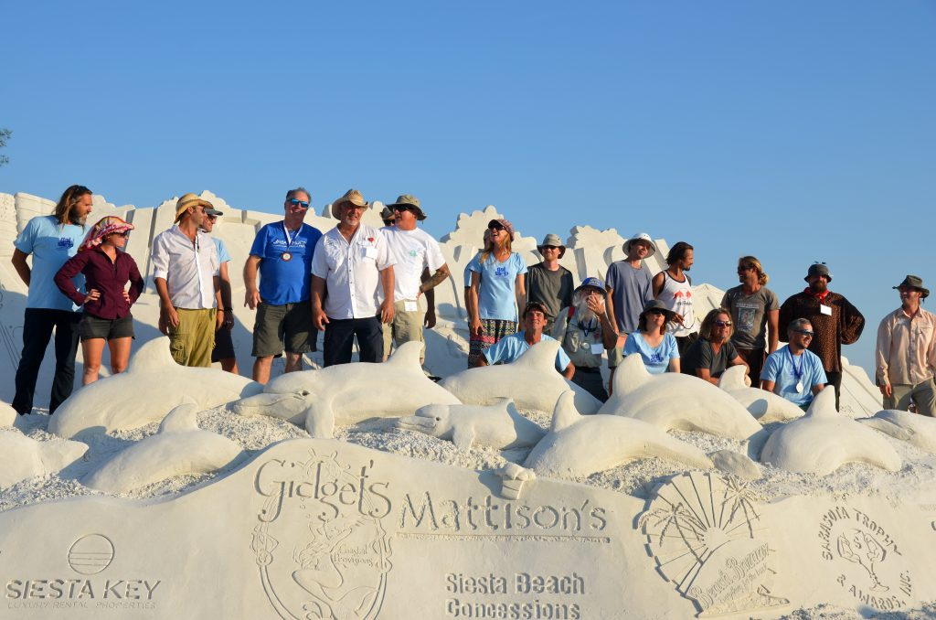 the sand sculpting artists