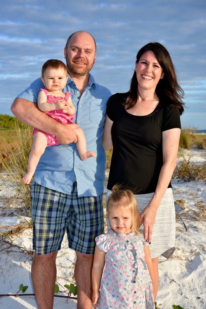 Ken, Andrea, Cecelia 10 months and Natalie age 2