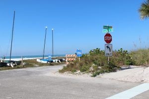 Public access signage installed at vacated portion of North Beach Road