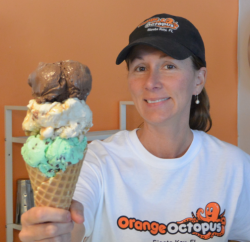 Slow-churned and made fresh daily ice cream equals success for this small island business