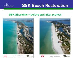 South Siesta Renourishment Project before and after