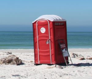 Portable toilet removed from Siesta Key beach property