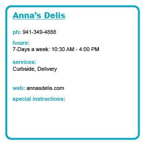 Anna's Delis